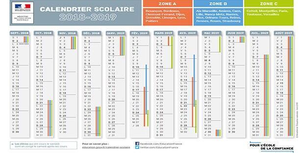 Calendrier Scolaire2019.Calendrier Scolaire 2019 2020