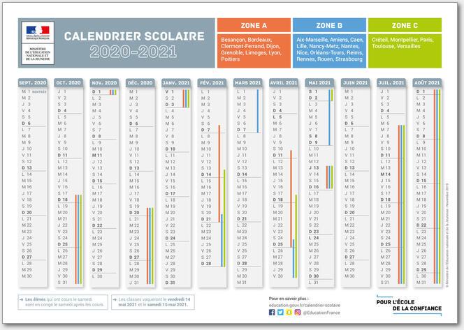 Calendrier Scolaire 2021 2022 Pdf Calendrier scolaire 2020   2021